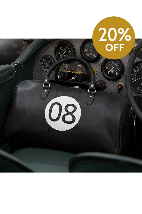 Classic leather racing bags