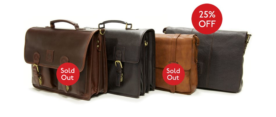25% off selected briefcases