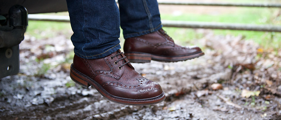Herring Coniston two tone brogue boot