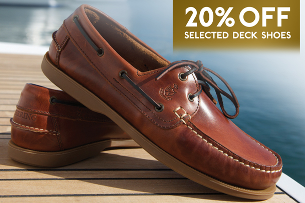 Herring Deck shoes 20% off in May