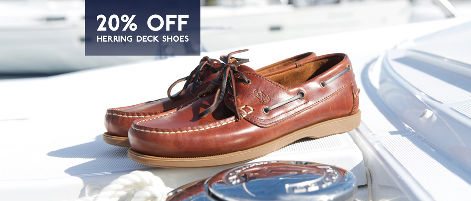 Deck shoes from just £68 this month only