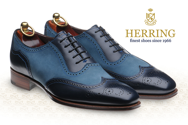 Herring Fiennes Navy and blue nubuck