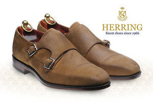 New Hailes oiled suede double monk
