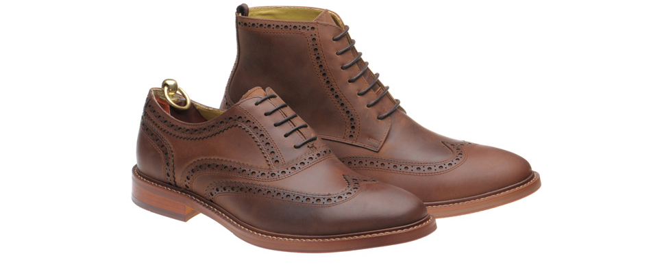 Waxy leather Limerick and Longford on lightweight, flexible rubber soles