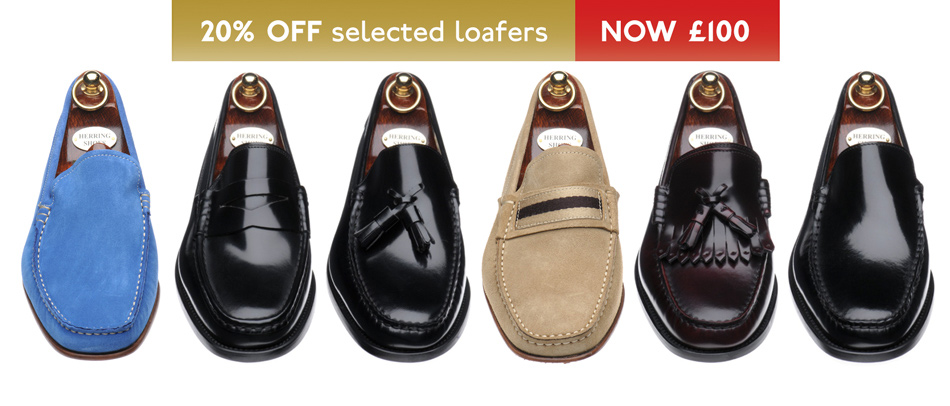 Italian loafers 20% off - now just £100 this June