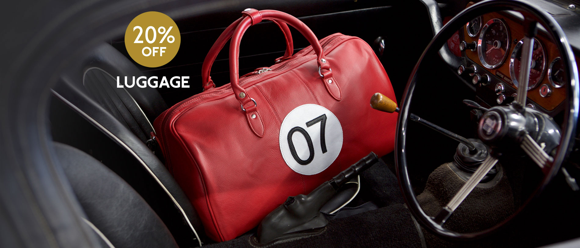 Luggage now 20% off for a great getaway this August