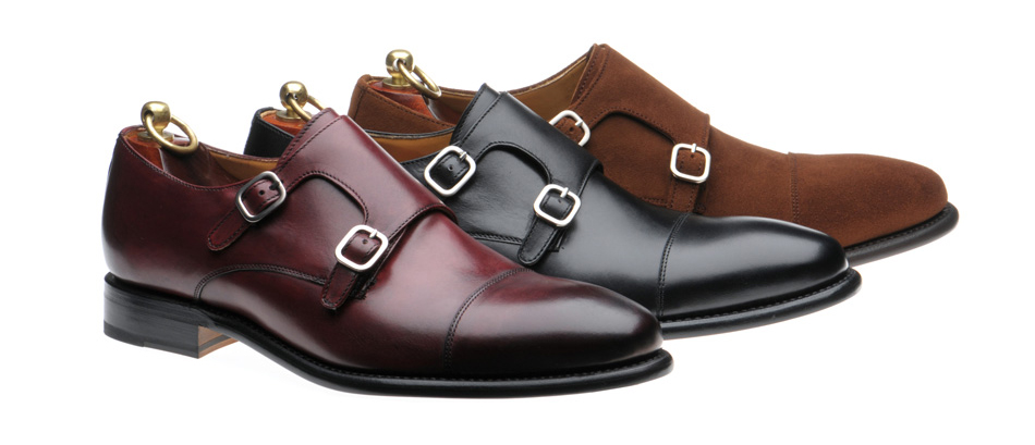 Elegant double-monk Shaw on welted leather soles