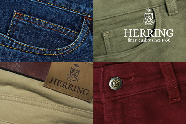 Stay warm with Herring moleskin trousers made in the UK