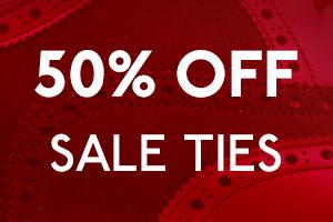 50% off selected ties