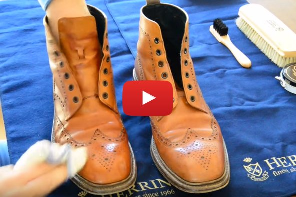 How to polish shoes part 1