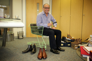 Theo Paphitis in Herring Shoes